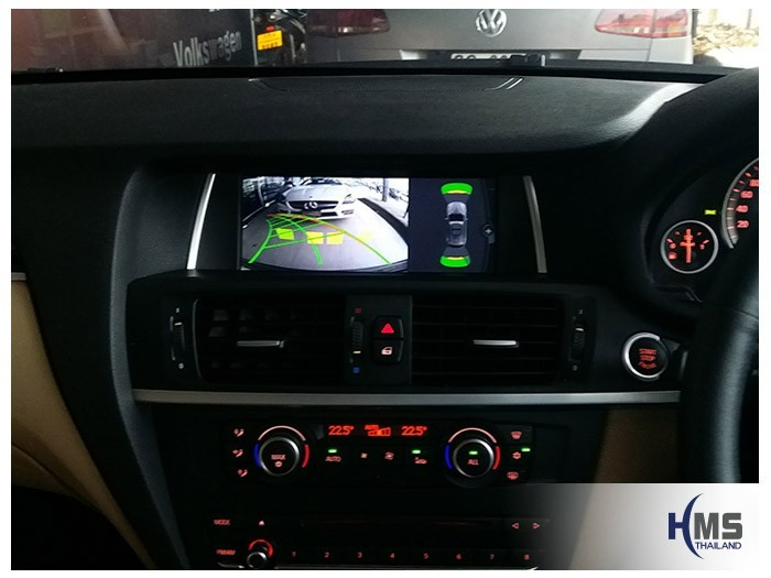 20180619 BMW X3 F25_Rear camera_View,Rear camera,จอถอยหลัง,กล้องมองหลัง,กล้องถอยหลัง,หมุนตามพวงมาลัย,PAS,Park assistant system