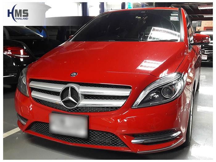 20180607 Mercedes Benz B200_W246_front,ติดตั้งกล้องติดรถยนต์ บน Mercedes Benz B200