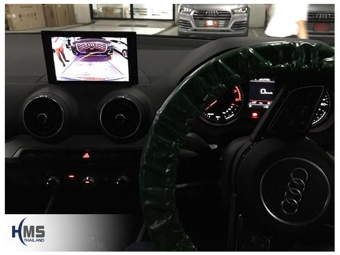 20180828 Audi_Q2_Rear_camera_View,ภาพจากกล้องมองหลังบนจอรถ AUDI Q2