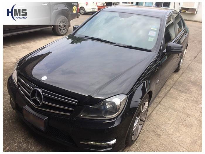 20180821 Mercedes Benz C200 W204_front,ติดกล้องติดรถยนต์บนรถ Mercedes Benz C200 W204