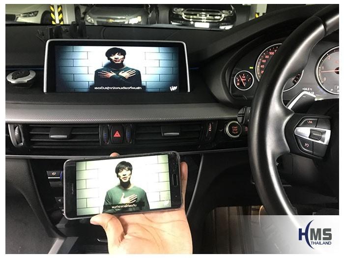 20180806 BMW X5 F15_wifi box_Movie,carplay , android auto, screen mirroring, ภาพมือถือขึ้นจอรถยนต์, Screen mirror, mirror link, car wifi display, car wifi