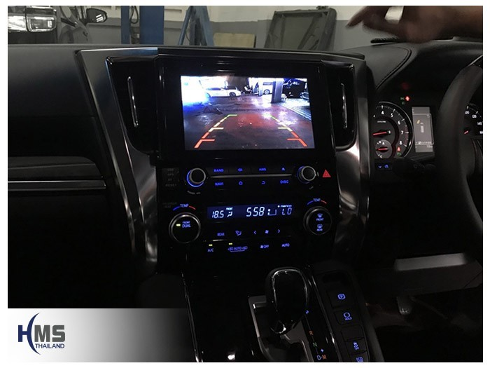 20180809 Toyota Alphard_KD9300_Rear camera_View,Rear camera,จอถอยหลัง,กล้องมองหลัง,กล้องถอยหลัง,หมุนตามพวงมาลัย,PAS,Park assistant system,