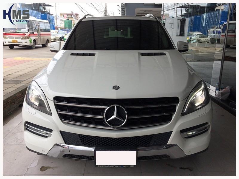 20180719 Mercedes Benz ML250 W166_front,ติดกล้องถอยหลัง บน Mercedes Benz ML250 โดย HMS Thailand