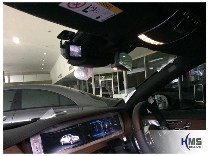 20180905 Mercedes Benz S350d_W222_DVR_Mio_MiVue_786_Wifi_2,ภาพจุดติดตั้งของกล้องติดหน้ารถ Mercedes Benz S350d W222