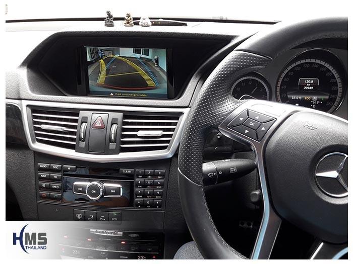 20180816 Mercedes Benz E250_W212_Rear camera_view,,Rear camera,จอถอยหลัง,กล้องมองหลัง,กล้องถอยหลัง,หมุนตามพวงมาลัย,PAS,Park assistant system