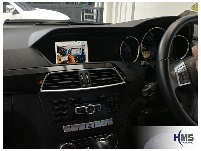 20180622 Mercedes Benz C180_W204_wifi_box_main menu,carplay , android auto, screen mirroring, ภาพมือถือขึ้นจอรถยนต์ , Screen mirror, mirror link, car wifi display, car wifi ,
