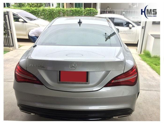 20180908 Mercedes Benz CLA250_C117_back,ภาพท้ายรถ Mercedes Benz CLA250 C117 ติดตั้งกล้องติดรถยนต์โดย HMS Thailand  ที่บ้านลูกค้าด้วยบริการ Onsite service