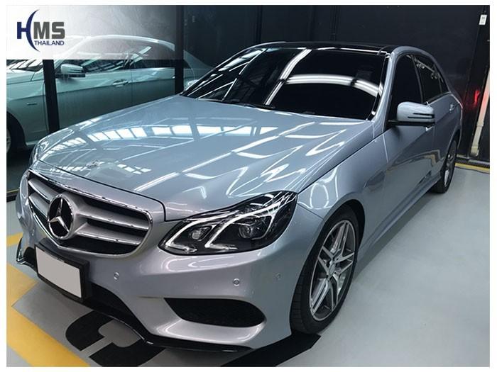 20180817 Mercedes Benz E300 W212_front,ติดกล้องหน้ารถบน Mercedes Benz E300 W212