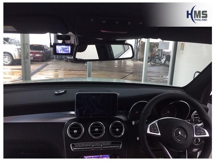 20180825 Mercedes Benz GLC250d_W253_DVR_Mio_MiVue_786_Wifi_location,จุดติดตั้งกล้องหน้ารถ Mio MiVue 786 Wifi อยู่ข้างกรอบกระจกมองหลังรถฝั่งผู้โดยสาร