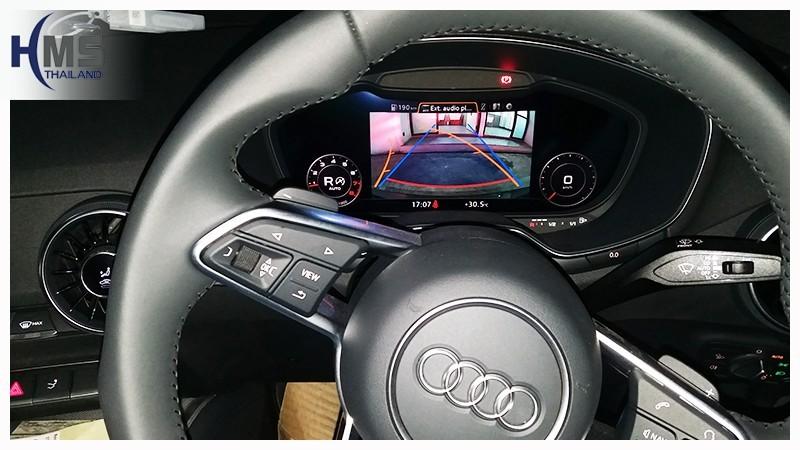 20180723 AUDI TT Rear camera View,Audi กล้องถอยหลัง,Rear camera,จอถอยหลัง,กล้องมองหลัง,กล้องถอยหลัง,หมุนตามพวงมาลัย,PAS,Park assistant system
