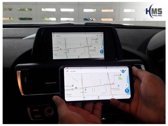 20180620 BMW 118i_F20_Wifi box_Navigation,carplay , android auto, screen mirroring, ภาพมือถือขึ้นจอรถยนต์ , Screen mirror, mirror link, car wifi display, car wifi ,, แผนที่, จีพีเอส, นำทาง,