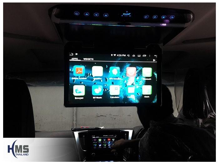 20180903 Toyota Vellfire Roof monitor,ภาพจากวิทยุ KD9300 แสดงภาพบนจอเพดาน LED Zulex ขนาด 15.6 นิ้ว ติดตั้งบนรถ Toyota Vellfire