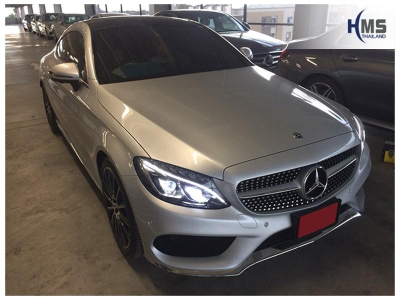 20180803 Mercedes Benz C250 W205_front,ภาพรถ Mercedes Benz C250 Coupe W205 ติด Wifi box โดย HMS Thailand