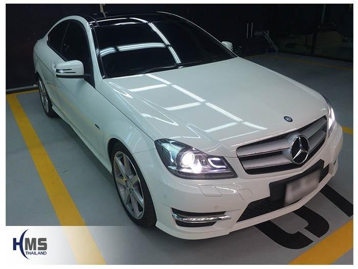 20180907 Mercedes Benz C180 W204_front,รถ Mercedes Benz C180 W204 ติดตั้งกล้องติดรถยนต์โดย HMS Thailand
