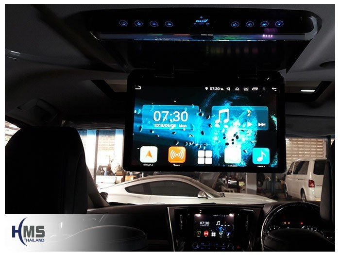 20180903 Toyota Vellfire_roof monitor_zulex_App,ภาพจากหน้าจอหลักของวิทยุ KD9300 บนจอเพดาน LED Zulex ขนาด 15.6 นิ้ว