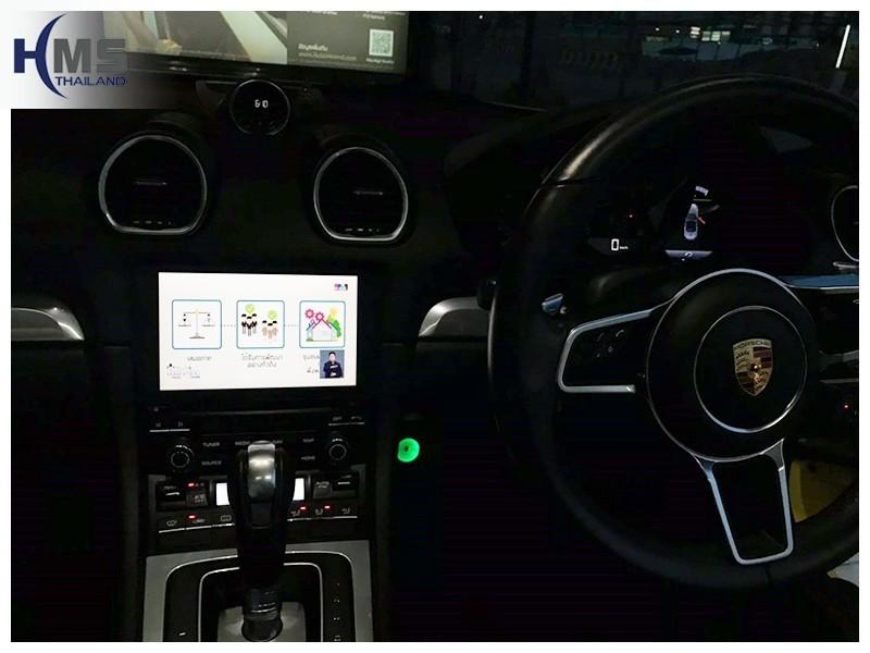 20181003 Porsche Boxster ติดทีวี