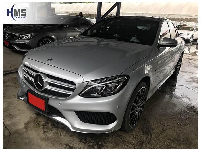 20180807 Mercedes Benz C350e_W205_front,ติดกล้องติดหน้ารถ บน Mercedes Benz C350e W205