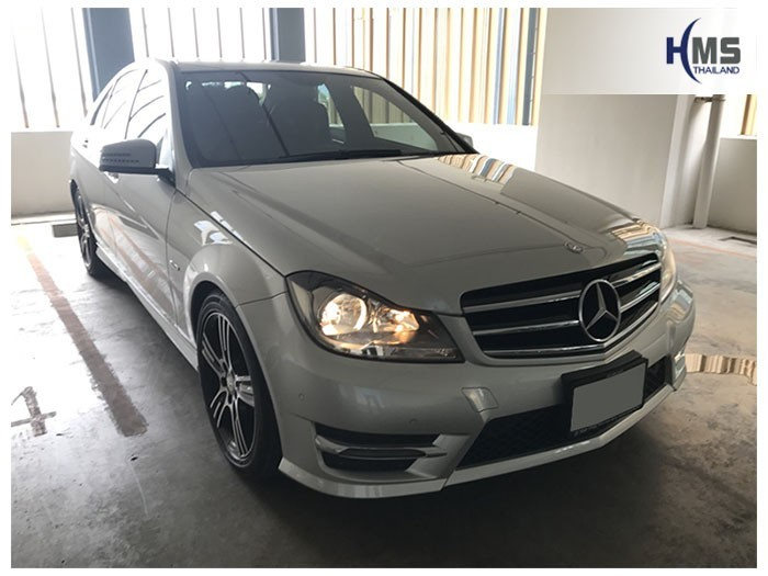 20180815 Mercedes Benz C200_W204_front,ติดTV ติดรถยนต์ กล้องถอยหลัง บน Mercedes Benz C200 W204