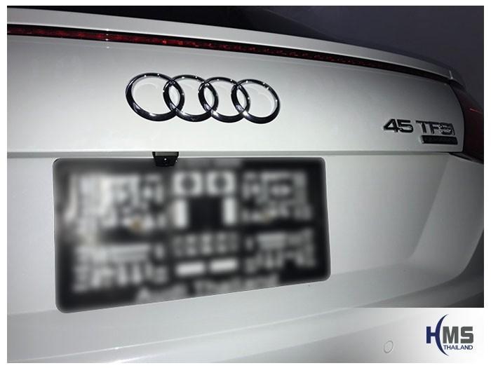 20180925 Audi TT 45TFSI quattro rear camera,ภาพงานติดตั้งกล้อง บริเวณด้านหลังรถ Audi TT 45TFSI quattro