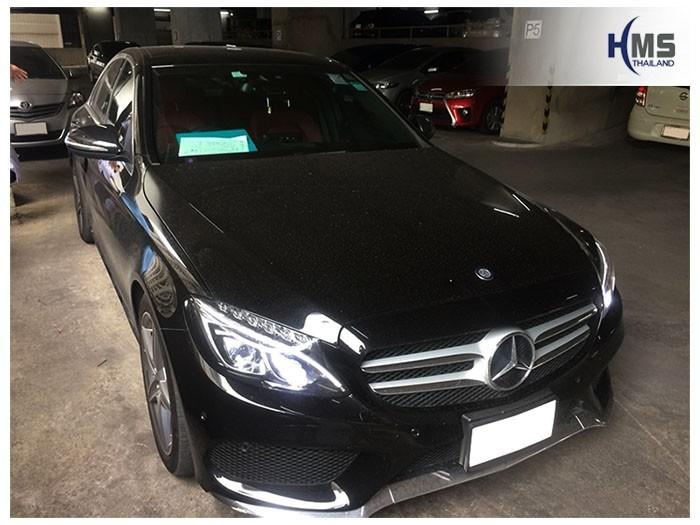 20180810 Mercedes Benz C300 W205_front,ติดกล้องติดรถยนต์ บน Mercedes Benz C300 W205