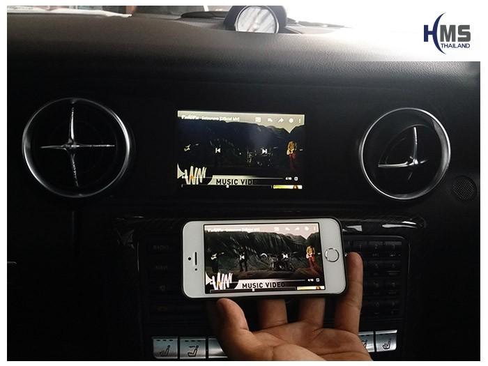 20180619 Mercedes Benz SLK200_W172_wifi box_Movie,carplay , android auto, screen mirroring, ภาพมือถือขึ้นจอรถยนต์