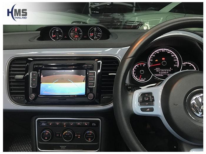 20180820 Volkswagen GT Beetle_Rear camera_View,Rear camera,จอถอยหลัง,กล้องมองหลัง,กล้องถอยหลัง,หมุนตามพวงมาลัย,PAS,Park assistant system