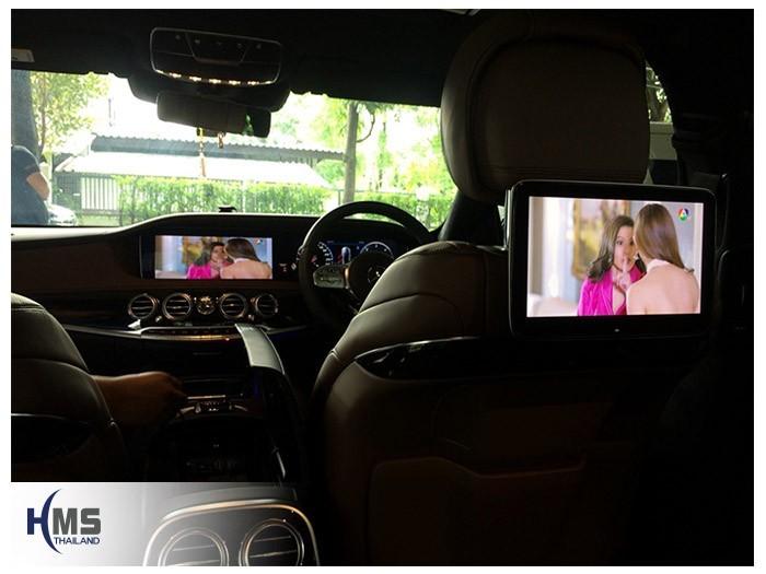 20180831 Mercedes Benz S350_W222_TV Digital_ASUKA_HR600_2Monitor,ต่อสัญญาณภาพทีวีออกหน้าจอหน้าและหน้าจอหลัง