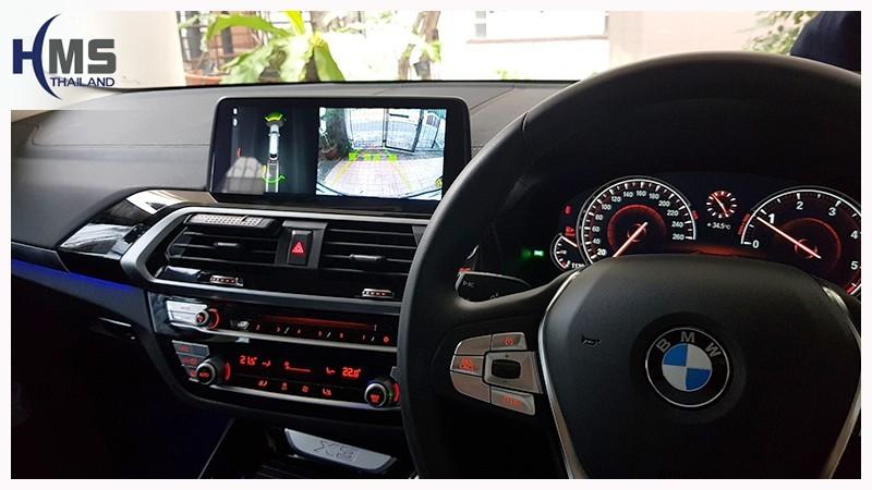 Bmw,X3,G01, ภาพจากกล้องถอย, รถบีเอ็ม, บีเอ็มดับบลิว, บีเอ็มดับเบิ้ลยู, บีเอ็ม,Rear camera,จอถอยหลัง,กล้องมองหลัง,กล้องถอยหลัง,หมุนตามพวงมาลัย,PAS,Park assistant system, carplay , android auto,