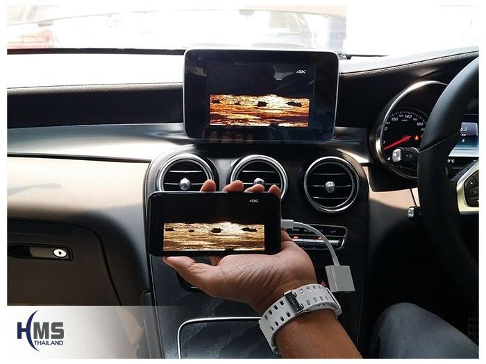 20180619 Mercedes Benz GLC250d_W253_TV Digital_ASUKA_HR630_iPhone AV Adaptor_Movie,,ทีวีติดรถยนต์,ติดรถยนต์ ,ทีวีในรถ ,ทีวีรถยนต์, ทีวีติดรถ ,ทีวีดิจิตอลรถยนต์ , tv ในรถยนต์ , tv tuner รถยนต์ ,ดิจิตอลทีวีในรถยนต์, tv digital รถยนต์ , จูนเนอร์ทีวีติดรถยนต์