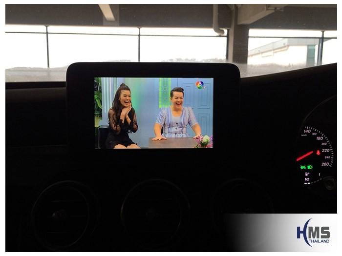 20180808 Mercedes Benz C350e_W205_TV Digital_ASUKA_HR600,TV Digital, ทีวีดิจิตอล, ดิจิตอลทีวี, ทีวีติดรถยนต์, TV ติดรถยนต์, ทีวีในรถ , ทีวีรถยนต์, Digital TV,ทีวี