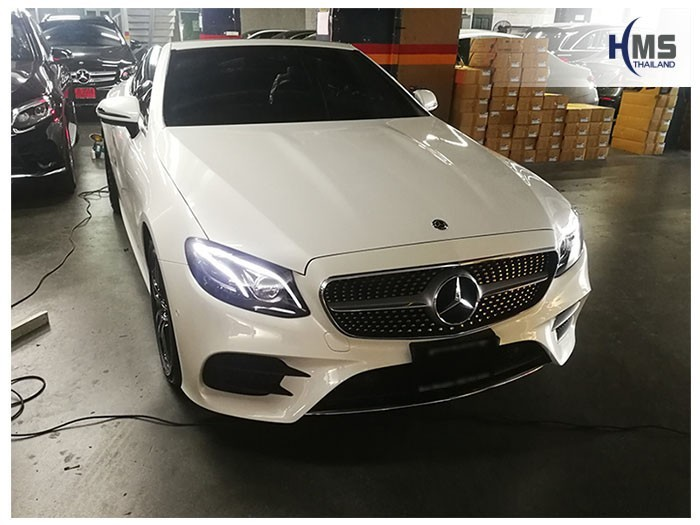 20180907 Mercedes Benz E300_Cabriolet_front,รถ Mercedes Benz E300 Cabriolet ติดตั้งกล้องติดหน้ารถโดย HMS Thailand