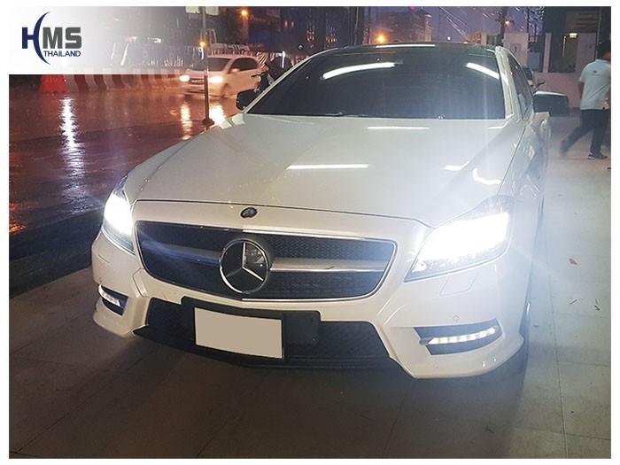 20180905 Mercedes Benz CLS350_W218_front,รถ Mercedes Benz CLS350 CDI ติดตั้งอุปกรณ์โดย HMS Thailand