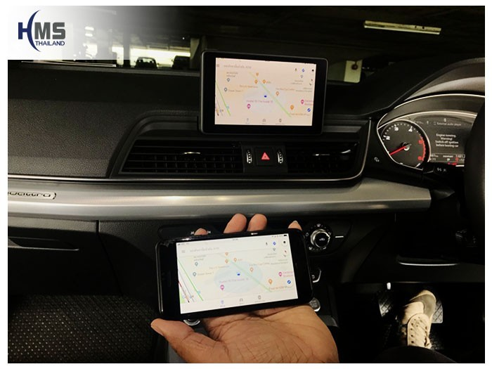 20180820 Audi Q5_Wifi box_Navigation,carplay, android auto, screen mirroring, ภาพจากมือถือขึ้นจอรถ ,Screen mirror, mirror link, car wifi display, car wifi