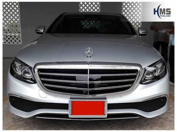 20180903 Mercedes Benz E350e_W213_front,รถ Mercedes Benz E350e W213 ติดตั้งกล้องหน้ารถโดย HMS Thailand
