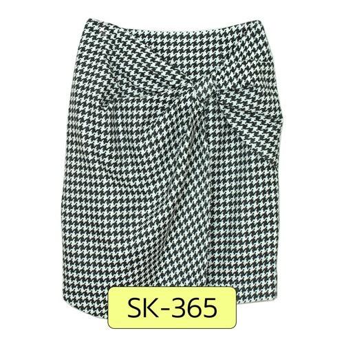 SK-365 กระโปรงแฟชั่น&ทำงาน ทรงสอบ ผ้าทอลายชิโนริ โทนสีดำ