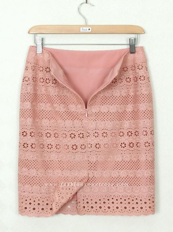 กระโปรงแฟชั่น Diagonal Ruffles Edge Skirt ผ้าไหมอิตาลีสีน้ำตาลเข้ม ผ้าเนื้อดีใส่สบายค่ะ