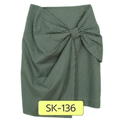 SK-136 กระโปรงแฟชั่น&ทำงาน ทรงสอบ ผ้าคอตต้อนญี่ปุ่นลายกราฟฟิกโทน