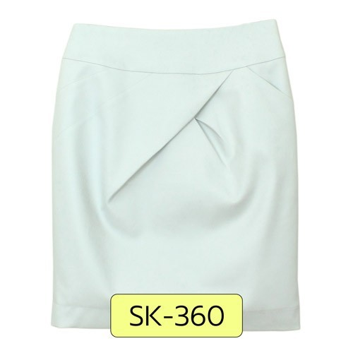 SK-360 กระโปรงแฟชั่น&ทำงาน ทรงสอบ ผ้าสแปนเด็กซ์ญี่ปุ่นสีขาวควันบุหรี่