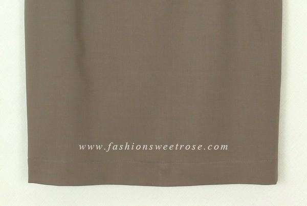 กระโปรงแฟชั่น กระโปรงทำงาน กระโปรงทรงดินสอ ผ้า Rose Skinny สีน้ำตาลอ่อน สไตน์เรียบหรู ใส่แมทกับเสื้อผ้าได้ง่าย ผ้าเนื้อดี รีดง่ายค่ะ
