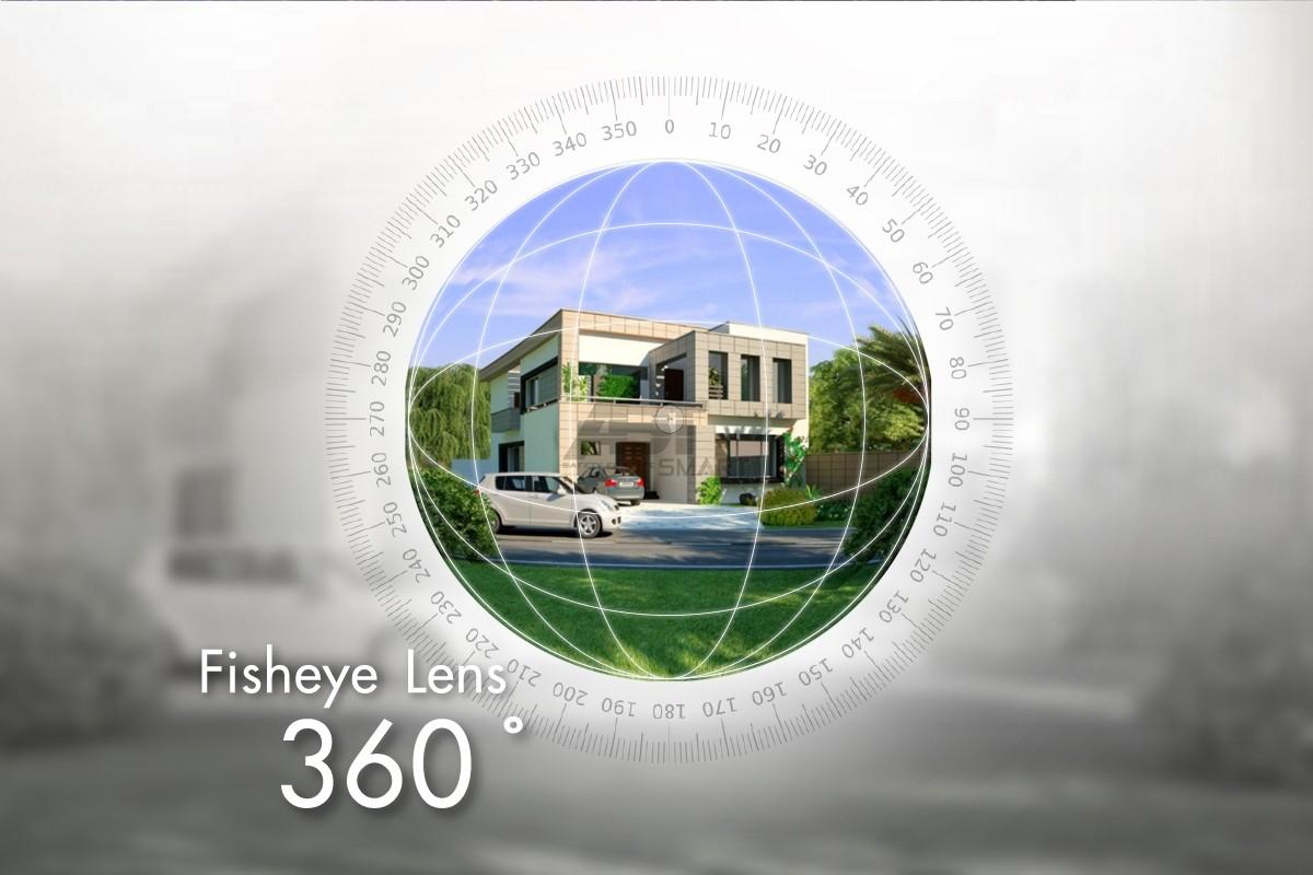 กล้องวงจรปิดไร้สาย Fisheye 360 องศา Outdoor กันน้ำ กันฝน กันฝุ่น ความละเอียด 2.0 ล้านพิกเซล
