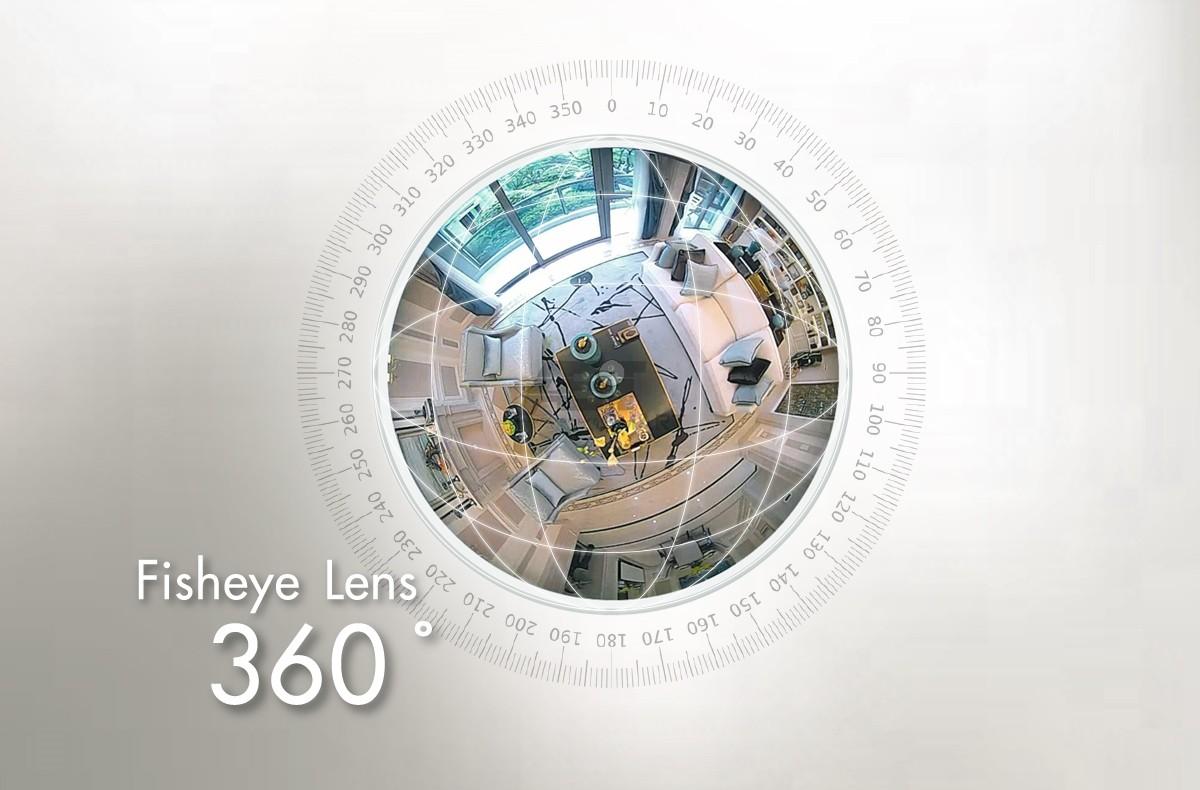 กล้องวงจรปิดไร้สาย WiFi Fisheye 360 องศา