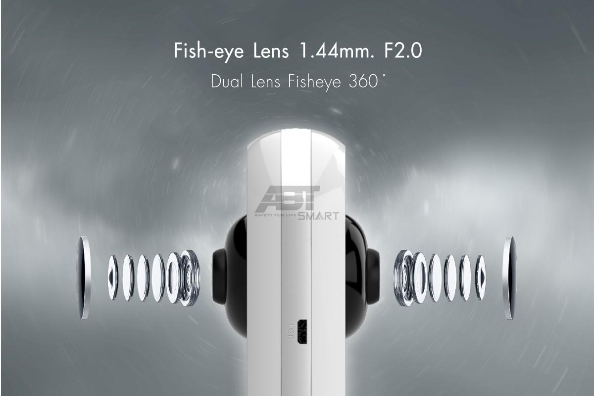 กล้องวงจรปิดไร้สาย เลนส์ Fisheye 360 องศา 2 ตัว ให้มุมมองครอบคลุม รวม 720 องศา นวัตกรรมกล้อง IP ใหม่ล่าสุดจาก ABT