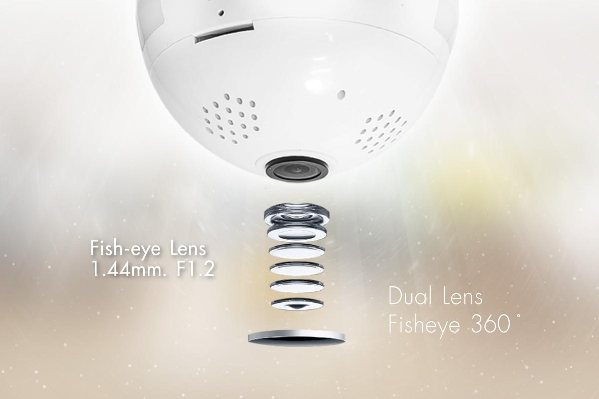 กล้องวงจรปิดหลอดไฟ 360 องศา