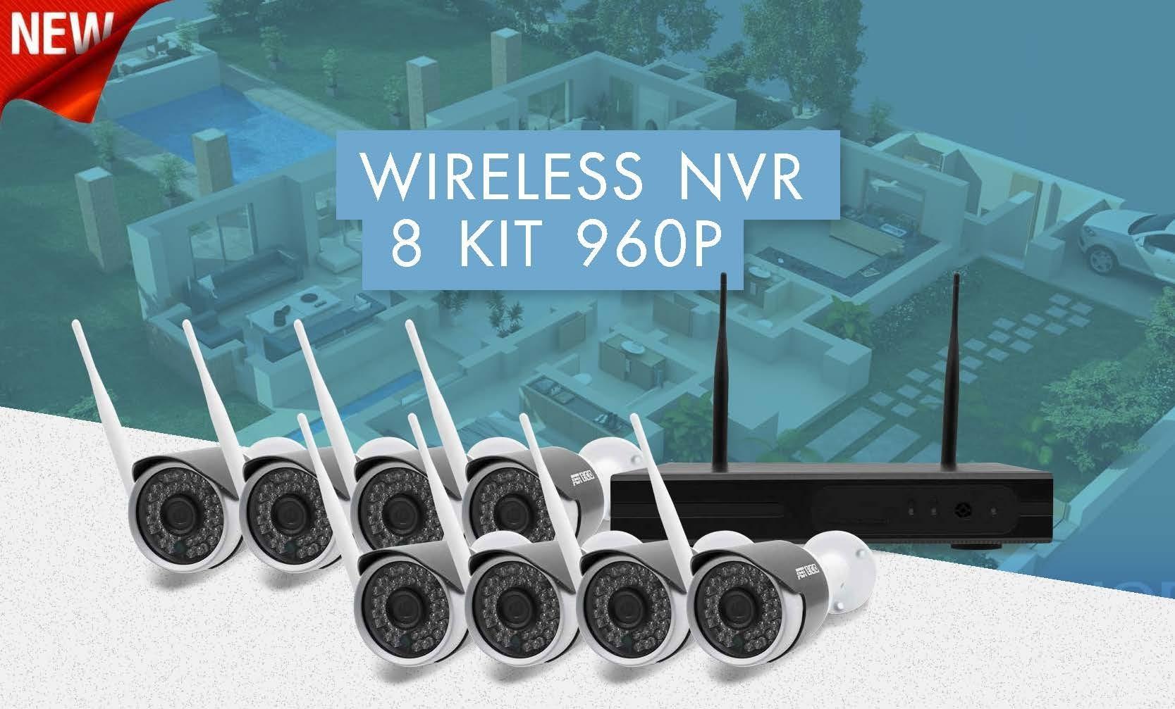 กล้องวงจรปิดไร้สาย Wireless CCTV Wifi ติดตั้ง แบบ กล้วยกล้วย ง่ายๆ HD960P