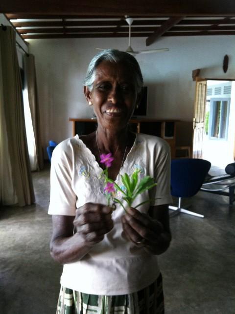 เกือบจะทุกเช้า ที่เบิร์นนี่มาทำงาน พร้อมดอกไม้ในมือ ไม่ได้เอามาให้มาดามนะค๊า แค่เอามาให้ดูแล้วถามว่า มันกินได้ไหม!!??!!