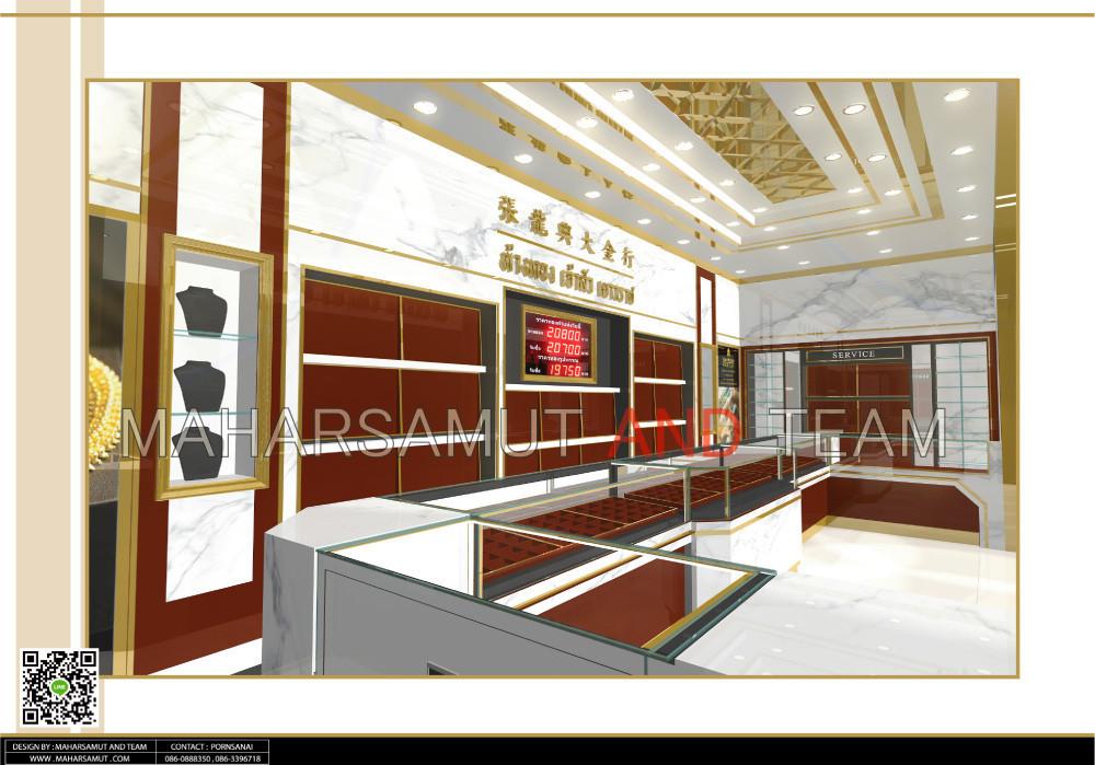 ออกแบบร้านทอง ออกแบบร้านจิวเวลรี่ ห้างทอง เจ้าสัว เยาวราช3