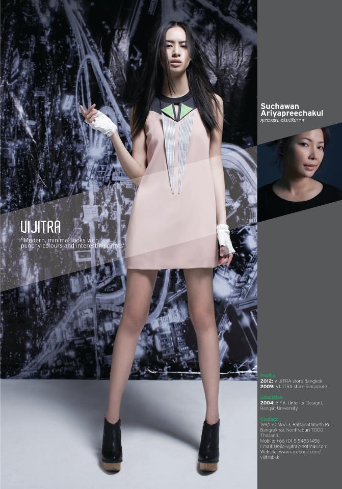 ผลงานการสร้างแพทเทิร์นเสื้อผ้าสำเร็จรูปสตรีแบรนด์ Vijitra