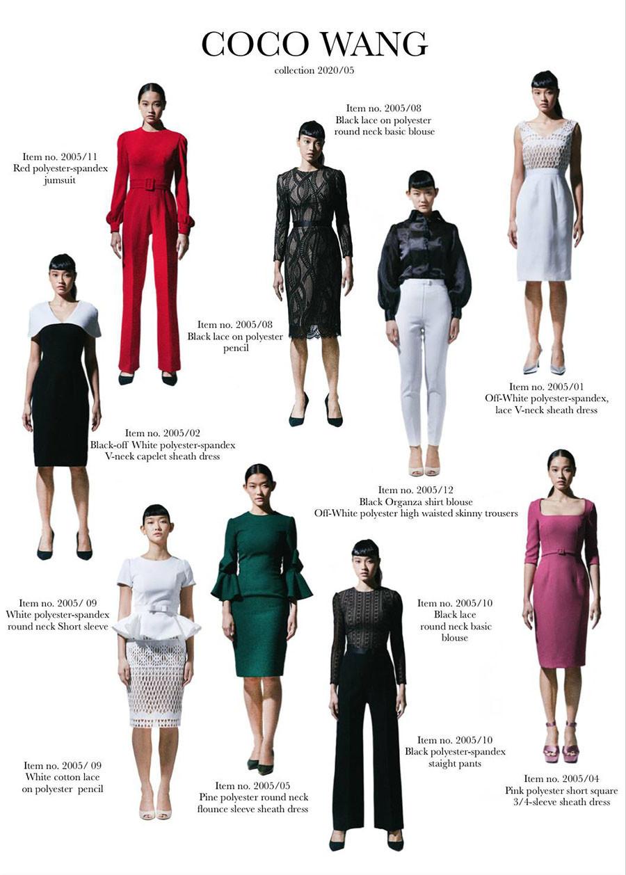ผลงานเสื้อผ้าผู้เรียน แบรนด์ Coco Wang คอลเลคชั่น 2020/05