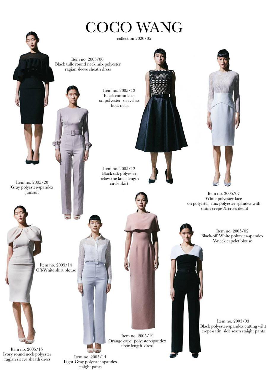 ผลงานเสื้อผ้าผู้เรียน แบรนด์ Coco Wang coleection 2020/05