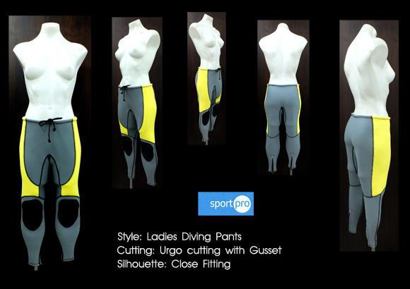 ผลงานการสร้างแพทเทิร์นกางเกงดำน้ำสตรี